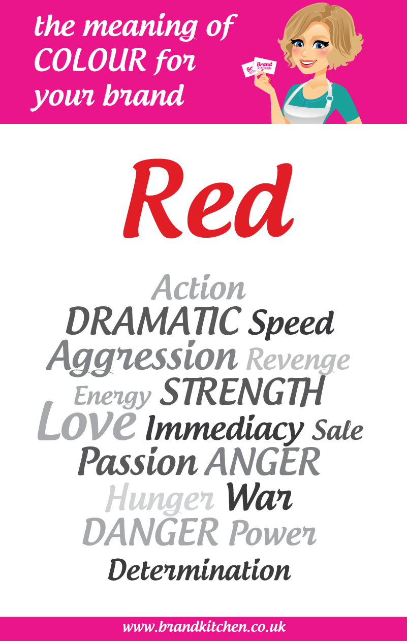 The meaning of the colour red for your brand brand kitchen